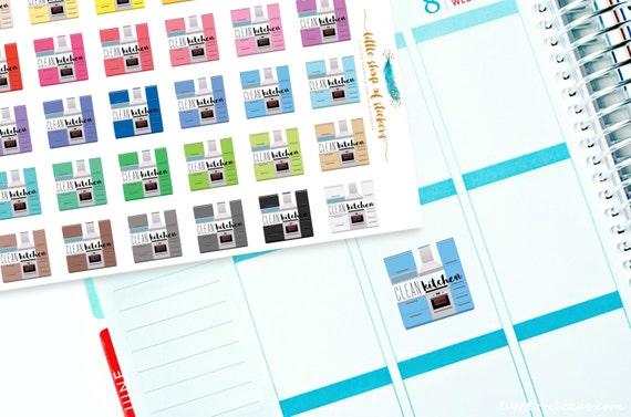 Clean Kitchen    Planner Stickers, Item Stickers, Decorating Stickers, Household Chore Planner Stickers