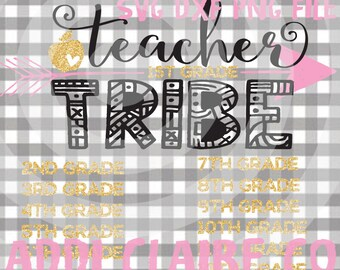 Teacher Tribe File (SVG, DXF, PNG)