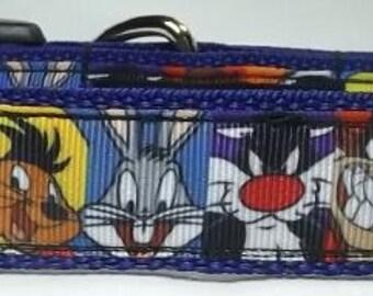 Loony Tunes Dog Collar - Cartoon Dog Collar FREE Shipping
