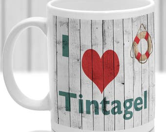 Tintagel mug, Gift to remember Cornwall, Ideal present,custom design.