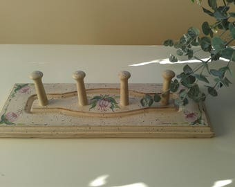 Wooden Wall Pegs, Hand Made and Painted