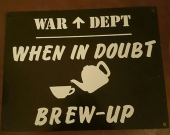 Vintage Inspired WW2 Tin Wall Sign Plaque Wall Decor