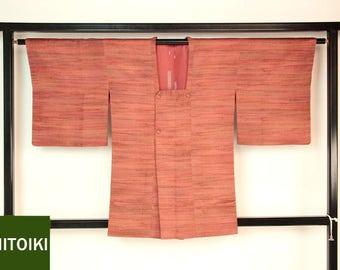"Japanese M32805 ""Fukureori"" Michiyuki Kimono Jacket Vintage"