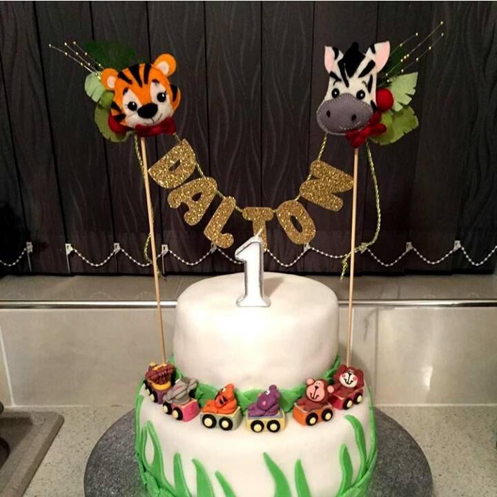 Topper Zoo Animals custom BDAY cake topper birthday cake