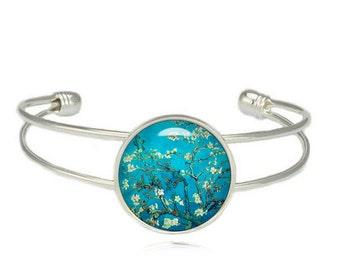 Van Gogh Almond Blossoms Cuff Bangle Van Gogh Bracelet Van Gogh painting Bracelet Art Jewelry