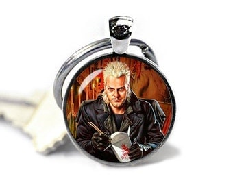 The Lost Boys Keychain Kiefer Sutherland David Key Ring Vampire Keyfob Lost Boys  Keychain Fandom Jewelry