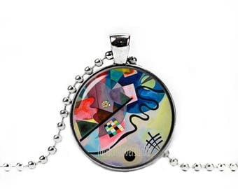 Kandinsky Necklace Wassily Kandinsky Pendant Art Jewelry Art Necklace