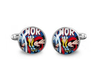 Thor Cuff Links Thor Comic Cufflinks 16mm Cufflinks Gift for Men Groomsmen Novelty Cuff links Wedding Cufflinks