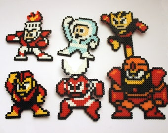 Mega Man 1 Robot Masters Mini Perler Bead Set