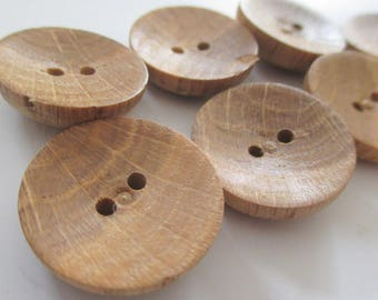 7 Wooden Buttons | Wood Vintage Buttons | 22mm Wood Button | Traditional Button Style | Irish Button | Pack of Wood Buttons from Ireland