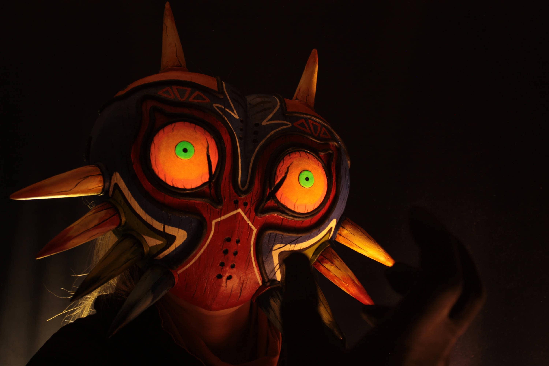 Glowing eyes Legend of Zelda Inspired Majora's Mask