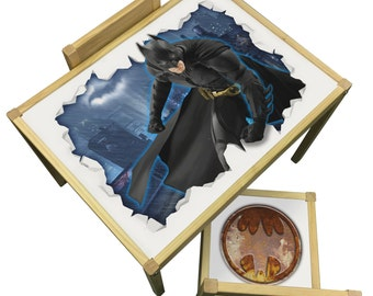 Batman Table and Chairs Set - Perfect for Bedrooms & Playrooms