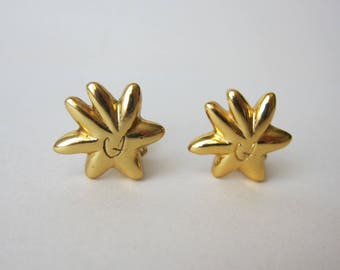 Christian Lacroix gold clips 1980 1990 Vintage Made in France