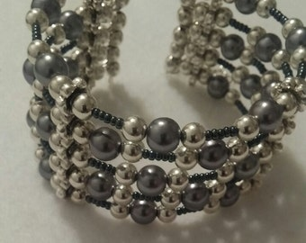 Gray and Silver Bracelet