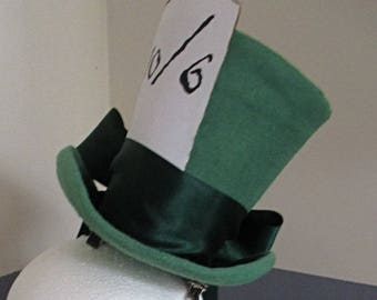 Green Mad Hatter mini top hat