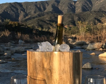 Tree Stump Wine Bucket