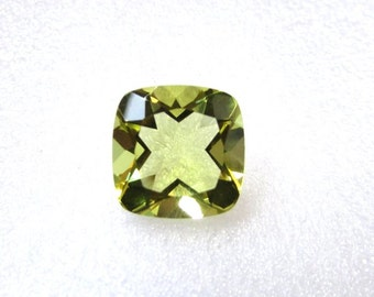 10 pieces lot 10mm LEMON Cushion Cut Faceted Calibrated Size Gemstone