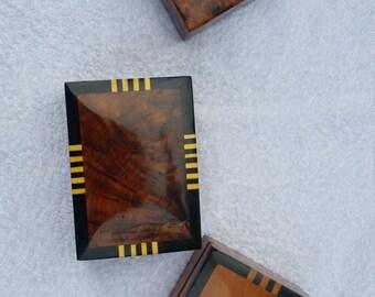 NORTH AFRICAN Thuya Wood Jewellery Trinket Box