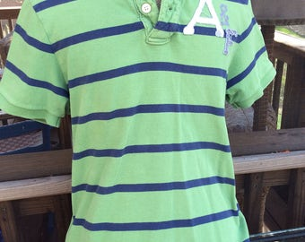 Abercrombie (A&F) collared short sleeve shirt- small