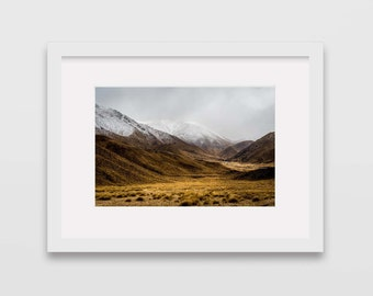 Lindis Pass, South Island, New Zealand Photographic Print