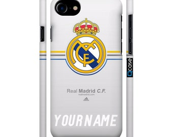 Personal Real Madrid cover , iPhone 7 Real Madrid, iPhone 6 Real Madrid case, iPhone 7 Plus Real Madrid case. LCD screen protector!