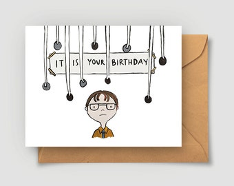birthday card office