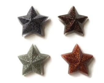 Glitter star magnets - refrigerator magnets, fridge magnets, office magnets, locker magnets, handmade magnets