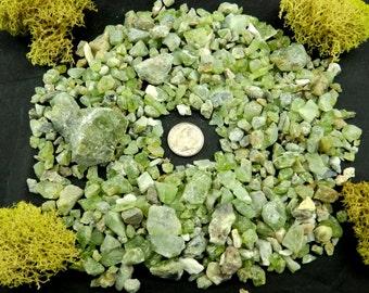 10% Off Wholesale PERIDOT Crystals (Gem Olivine, 200g) Natural Raw Specimens in Bulk #PDOT11