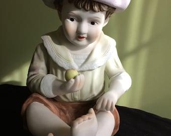 Handpainted Ceramic Boy