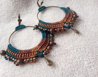 Creole macrame / loop ear macrame / loop ear ethnic Bohemian / boho creole / d ears rings