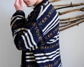 Vintage 80s cardigan 1990s mens sweater hipster BIBO