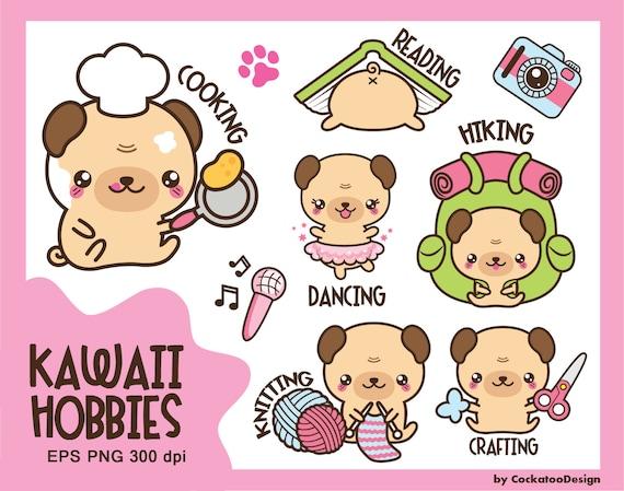 30 off kawaii clip art kawaii pug clip art kawaii clipart - Kawaii kochen ...