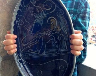Story Platter - Fairy Tales and Fables in a hand built ceramic dish