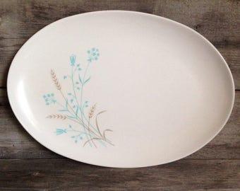 Vintage mid century Melmac oval serving platter   meat platter