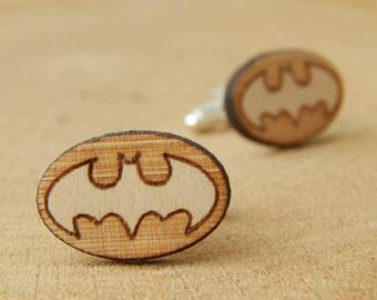 Wooden Cufflinks  - Batman Cufflinks