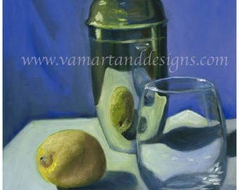Original Oil Painting Study in Reflective Silver Surface Still Life - 11 inches x 14 inches