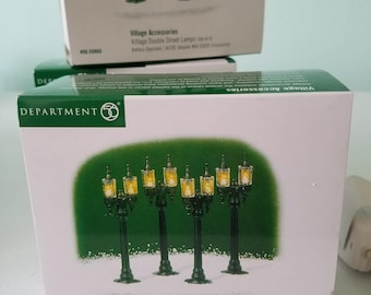 FREE SHIPPING, 3 Sets of DEPARTMENT 56 Double Street Lights