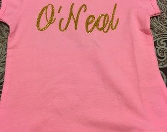 Girls Personalized Tshirt