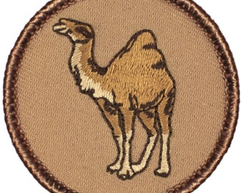 Camel Patch (053) 2 Inch Diameter Embroidered Patch
