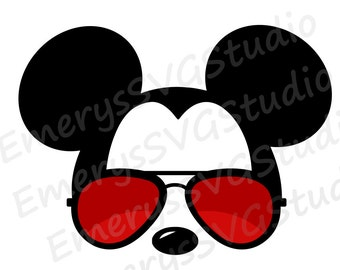 SVG DXF File for Mickey with Sunglasses