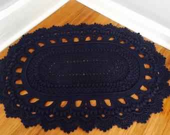 Crochet Oval Russian Rug