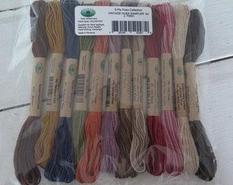 Valdani Vintage Hues 12 pack 6 strand floss set hand dyed