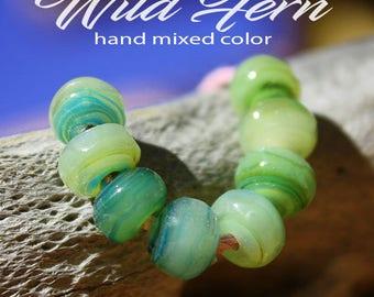 WIld Fern Organic Seeds glass lampwork beads for Jewelry Design