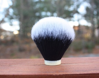 24MM Tuxedo - Extra Dense Synthetic Shaving Brush Knot- Black/White - APShaveCo.