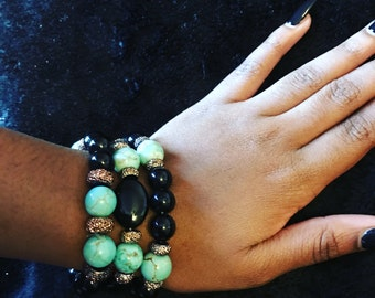 3 pc stretch bracelet set