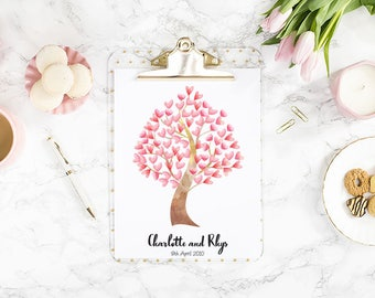 Personalised Love Tree A4 Print
