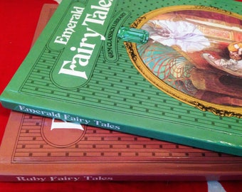 A set of 2 gem classics library, Emerald and Ruby Fairy Tales 1983 Jane Carruth