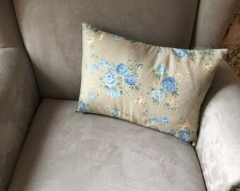 Blue Rose Decor Pillow
