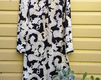 70's full length floral dress