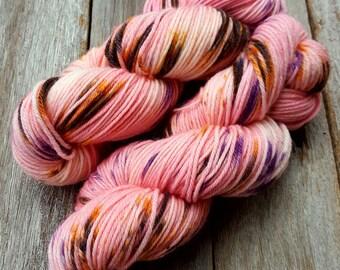 CHERRY BLOSSOM Hand Dyed Yarn DK 8 ply on Harmony 100% Superwash Merino Wool Australian Handdyed